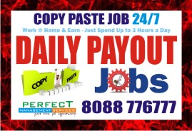Copy paste work | 1095 | Work Daily Earn Daily | D