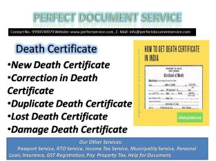 Death certificate | MCD| south Delhi|
