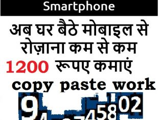 sms sending job without investment Data Entry Work